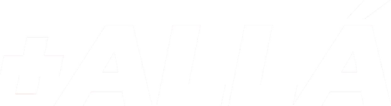 Logo de +ALLÁ Agency - Blanco